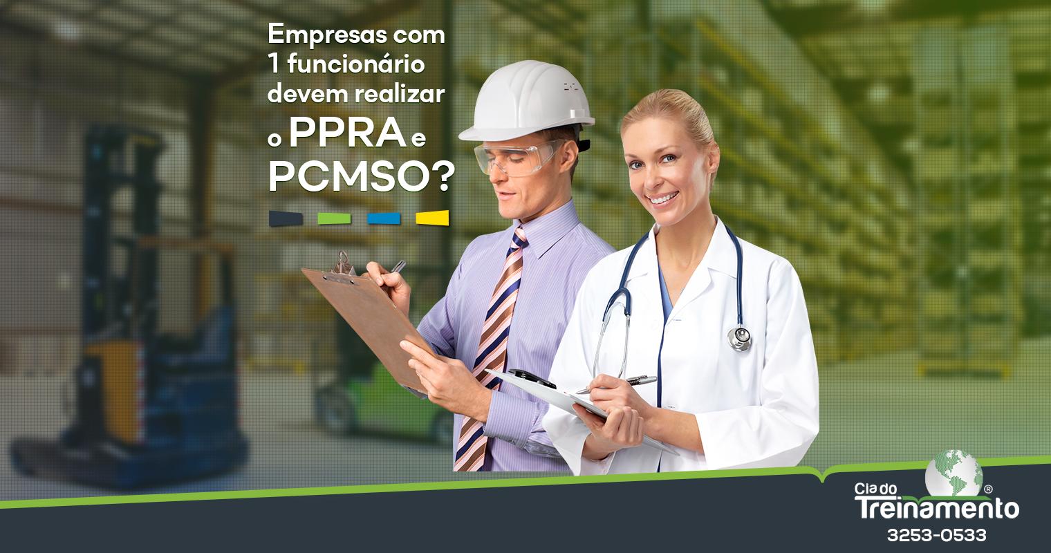 Empresas com apenas 1 funcionário devem realizar o PPRA e PCMSO?