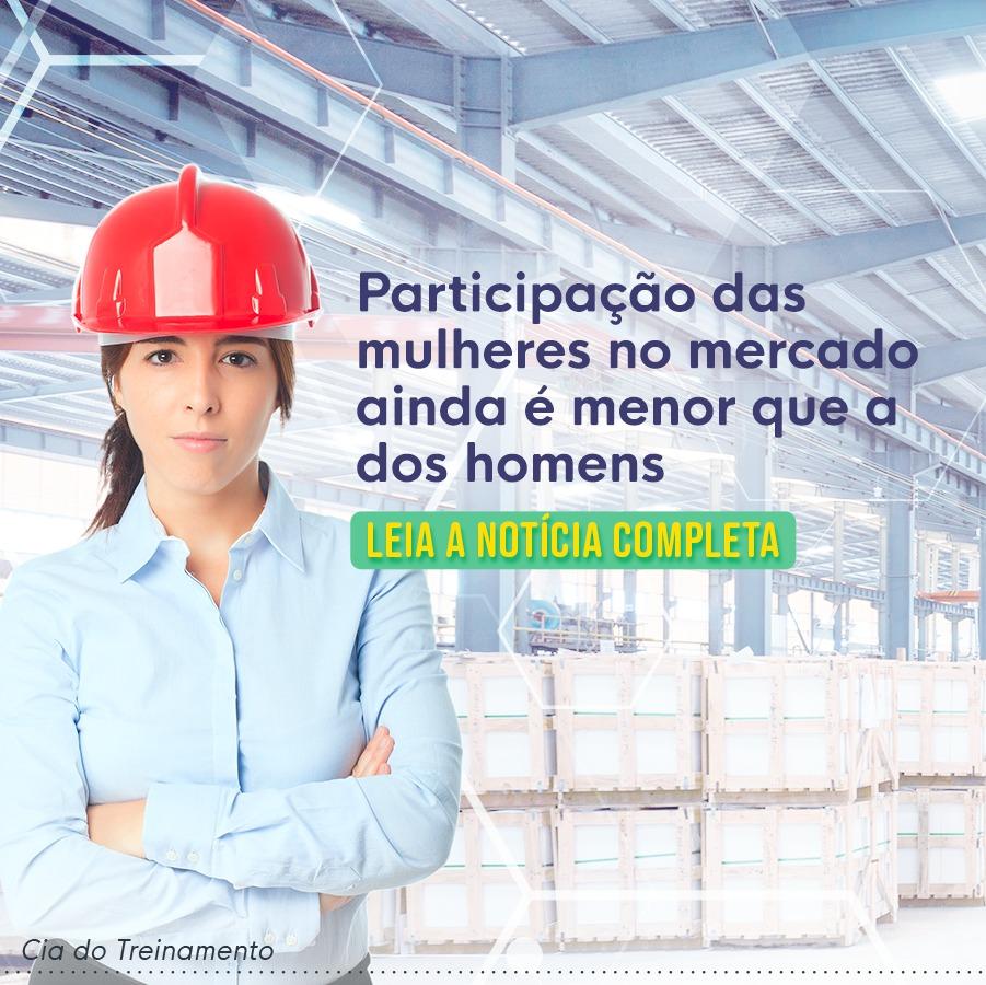 Participação das mulheres no mercado ainda é pequena