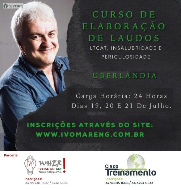 Programe-se e participe do CURSO DE ELABORAÇÃO DE LAUDOS: LTCAT